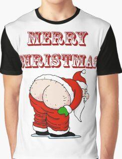 Santa's Butt, Merry Christmas Graphic T-Shirt