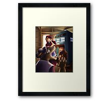 Doctor Who and Red Riding Hood (Prints, Cards and Posters) Framed Print