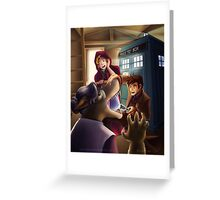 Doctor Who and Red Riding Hood (Prints, Cards and Posters) Greeting Card