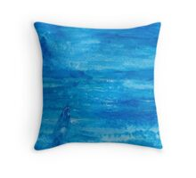 Nocturn in blue Throw Pillow
