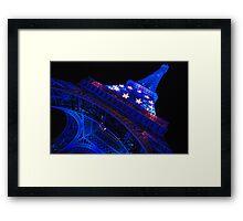 Paris - Blue Old Lady  Framed Print