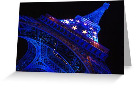 Paris - Blue Old Lady  by Jean-Luc Rollier