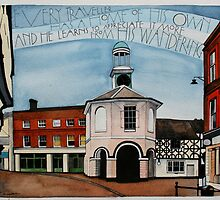 Godalming, Surrey (featuring the Pepperpot) by samcannonart