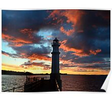 Newhaven sunset.  Poster