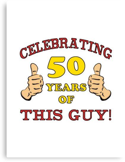 50th Birthday Gag Gift For Him  by thepixelgarden