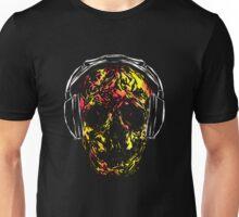 Skull with Headphones Unisex T-Shirt