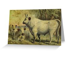 The Cows Came Home Greeting Card