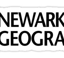 'Newark Geographic' (b) Sticker