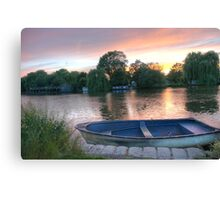 Sunset over Surrey Thames Canvas Print