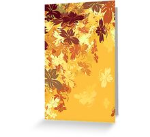 Gold Autumn Leaves Greeting Card