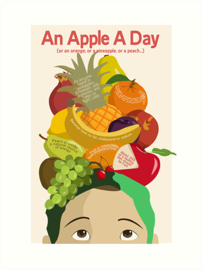 An Apple A Day- Health Poster by LoganG