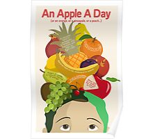 An Apple A Day- Health Poster Poster