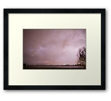 Terry Lake Lightning Thunderstorm Framed Print