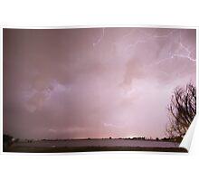 Terry Lake Lightning Thunderstorm Poster