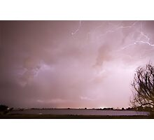 Terry Lake Lightning Thunderstorm Photographic Print