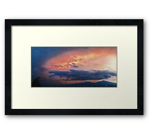 ©HCS Orange Glow Cloud Textured Framed Print
