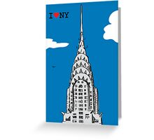 I Love the Chrysler Building Greeting Card