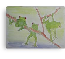 'FROGS' Canvas Print
