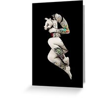 Tattoo Girl in Bed Greeting Card