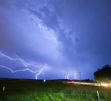 75th and Woodland Lightning Thunderstorm View by Bo Insogna