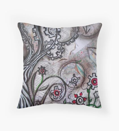 Land Of Many Thoughts Throw Pillow