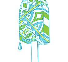 Pop ice pop 1 Blues-Green-Yellow no border by aygeartist