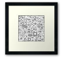 House a subject a structure Framed Print