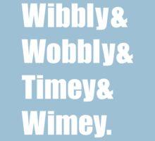 Wibbly Wobbly Ampersand Kids Tee
