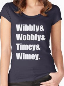 Wibbly Wobbly Ampersand Women's Fitted Scoop T-Shirt