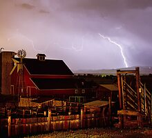 McIntosh Farm Lightning Thunderstorm by Bo Insogna