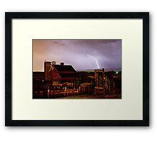 McIntosh Farm Lightning Thunderstorm Framed Print