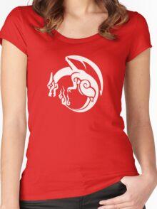 Pocket Monster Hunter Red Women's Fitted Scoop T-Shirt