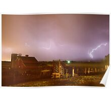 McIntosh Farm Lightning Thunderstorm View Poster