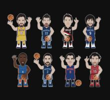 NBAToon of Spanish NBA players by D4RK0