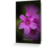 Pink flower Thank you card Greeting Card
