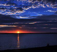 Sunset On The Lake by webdog