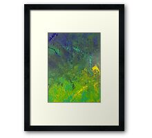 Blue Rain Framed Print