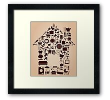 House from subjects Framed Print