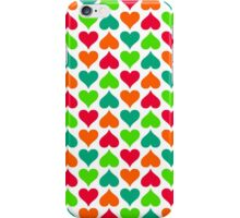 Candy Hearts (White) iPhone Case/Skin