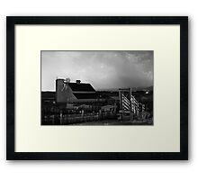 Barn On The Farm and Lightning Thunderstorm Framed Print