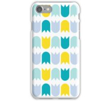 Tulip pattern blue - yellow iPhone case iPhone Case/Skin