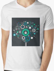 House gear wheel Mens V-Neck T-Shirt