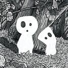 Tree Spirits - Black and White by Pete Katz