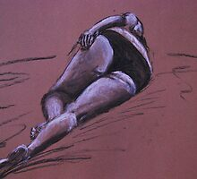Life drawing - Stephanie #4 by Inese