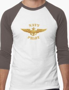 Navy Pilot Wings T-shirt Men's Baseball ¾ T-Shirt