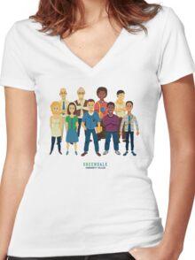 Greendale Women's Fitted V-Neck T-Shirt