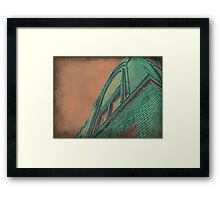 Aged Copper Theater Framed Print