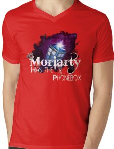 Moriarty has the Phonebox  Mens V-Neck T-Shirt
