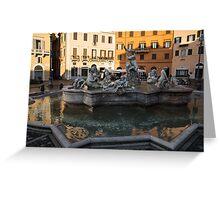 Neptune Fountain Rome Italy Greeting Card
