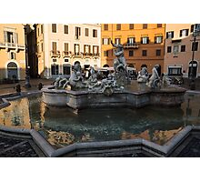 Neptune Fountain Rome Italy Photographic Print